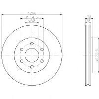 Тормозные диски Nissan Pathfinder (R51,05-...,  Blue Print, передние,D296)