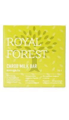 Шоколад из кэроба Royal Forest с миндалем, 75 гр