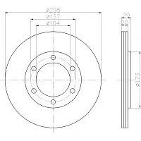 Тормозные диски  Nissan Patrol Y60 ( 87-98, передние, Optimal), фото 1
