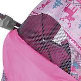 Санки-коляска Ника Умка 3-1 Вязанный Розовый, фото 3