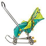 Санки-коляска Ника Умка 3-1 Вязанный Скандинавский зеленый, фото 4
