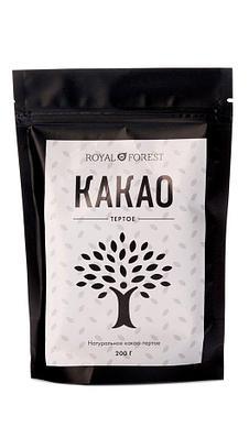 Какао-бобы Royal Forest тертые натуральные, 200 гр