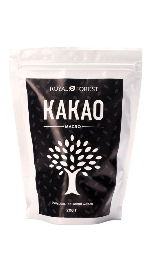 Пищевое какао-масло Royal Forest, 200 гр
