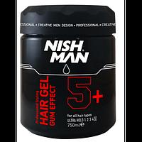 Nishman Ultra Strong Hair Gel Gum Gum Effect (Гель для укладки волос) 750 мл.