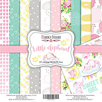 Little elephant - набор двусторонней бумаги 30,5см х 30,5см