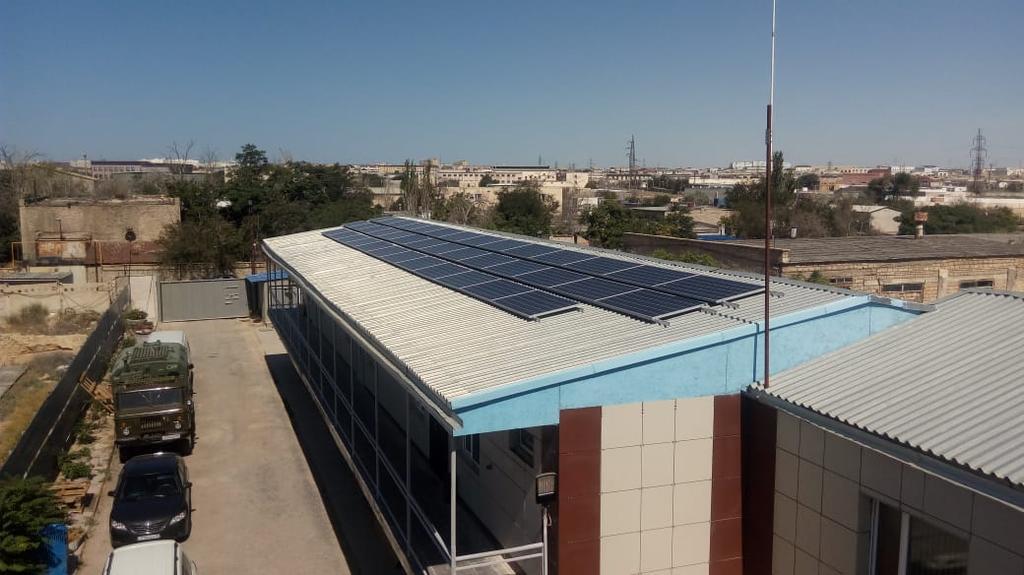 Сетевая солнечная станция 14,4 кВт в г. Актау