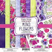 MIND FLOWERS - набор двусторонней бумаги 30,5см х 30,5см, фото 1