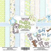 PUFFY FLUFFY BOY - набор двусторонней бумаги 30,5см х 30,5см