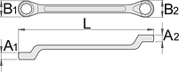 Ключ накидной с изгибом, для безопасной работы на высоте, фото 2