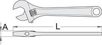 Ключ разводной, для безопасной работы на высоте, фото 2