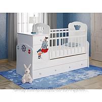 Манеж кровать Инфанзия (белый MAGIK,белый Мишка,белый АВС,белый Пират), фото 4