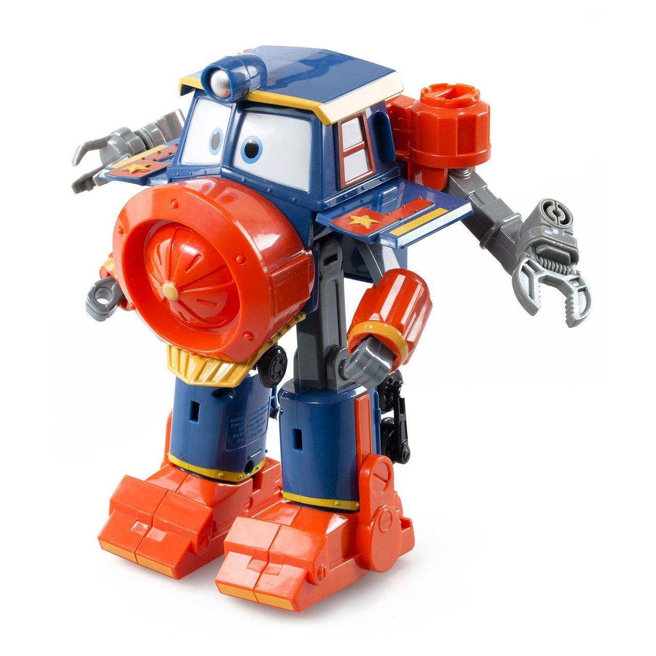 Роботы-поезда, Фигурка-трансформер Виктор с прицепом Деоюкс, 10 см