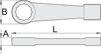 Ключ накидной ударный, для особо тяжёлых работ, для безопасной работы на высоте, фото 2