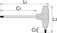 Ключ шестигранный с Т-образной рукояткой, фото 2