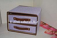 Органайзер с двумя выдвижными полками 27.5*28*19 см фиолетовый