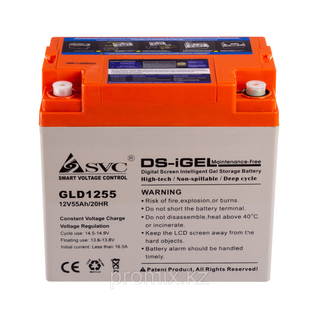 Аккумулятор SVC GLD1255 12В 55 Ач (GEL)