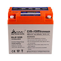 Аккумулятор SVC GLD1255 12В 55 Ач (GEL), фото 1