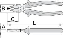 Плоскогубцы комбинированные, рукоятки BI, фото 2