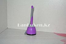 Ручка шариковая на подставке (стержень синий) корпус фиолетовый