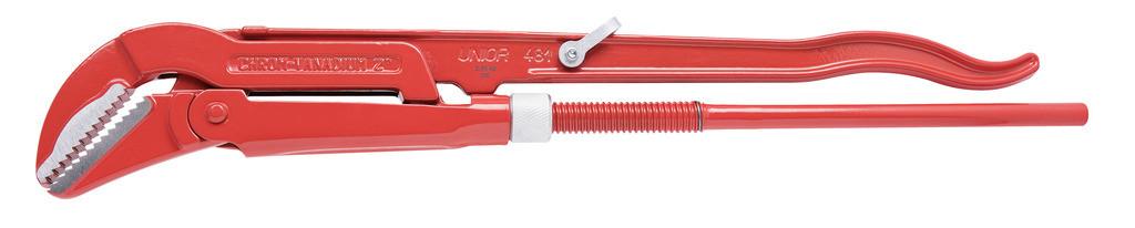 Ключ трубный (шведский тип), угол 45°