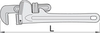 Ключ трубный (американский тип), алюминиевый, фото 2