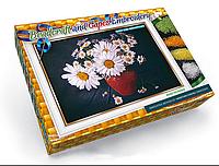 Набор для вышивки бисером и лентами Dankotoys Ромашки