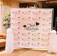 Пресс-стена для свадеб, узату