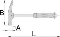 Молоток плотницкий с магнитным держателем, фото 2