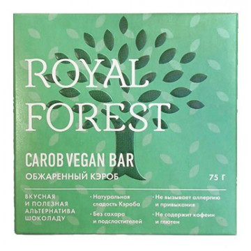 ROYAL FOREST CAROB VEGAN BAR (Обжаренный кэроб), 75гр.