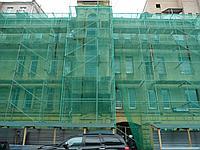 Фасадная сетка строительная затеняющая 55 гр/1м2 50% затемнения   Темно-зеленая
