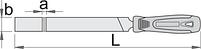 Напильник плоский, драчёвый с рукояткой, фото 2
