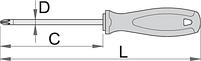 Отвёртка крестовая PH, рукоятка TBI, фото 2