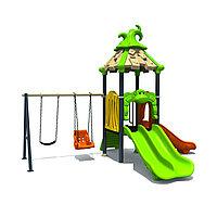"""Детский игровой комплекс """"Джунгли"""", лестница, горки 3, качели, нержавеющая сталь"""