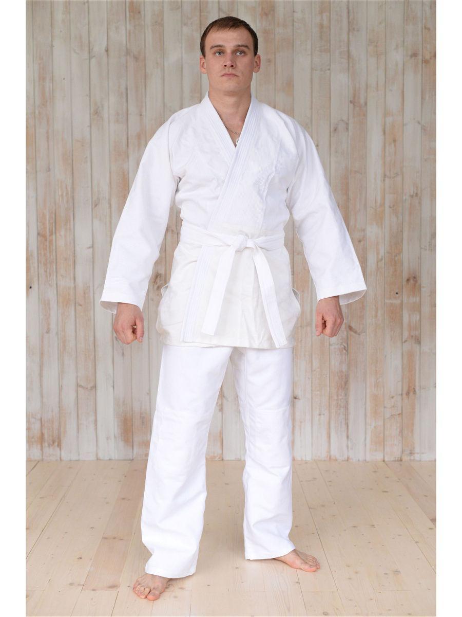 Кимоно для дзюдо белый 100 % хлопок - фото 8
