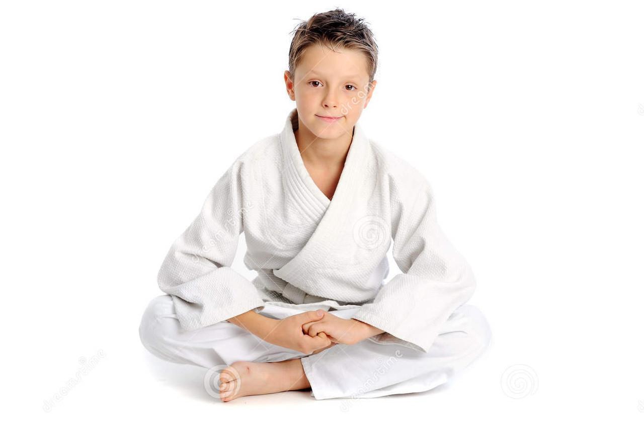 Кимоно для дзюдо белый 100 % хлопок - фото 3