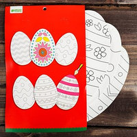 Основа для творчества и декора 'Яйца с орнаментом', набор 3 шт., размер 1 шт 16,5x24,5 см