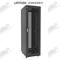 Шкаф серверный напольный LATITUDA 42U, 800*1000*1958мм, передняя дверь перфорированная одностворчатая, фото 1