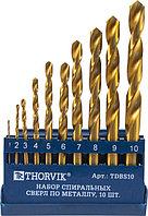 Сверла спиральные по металлу HSS TiN и наборы из них