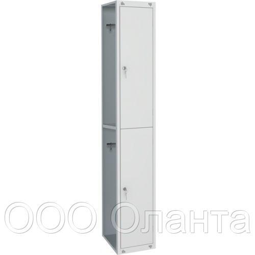 Шкаф для одежды односекционный на две ячейки дополнительная секция (400х490х1850) арт. ШММ12/400-ДС