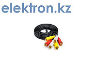 Кабель ,шнур, соединительный  3RCA – 3RCA 1, 5м аудио,видео,компьютерный купить в Нур-Султан