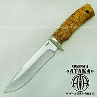 """Нож """"Лань"""" из кованой стали Х12МФ, рукоять стабилизированная карельская берёза"""