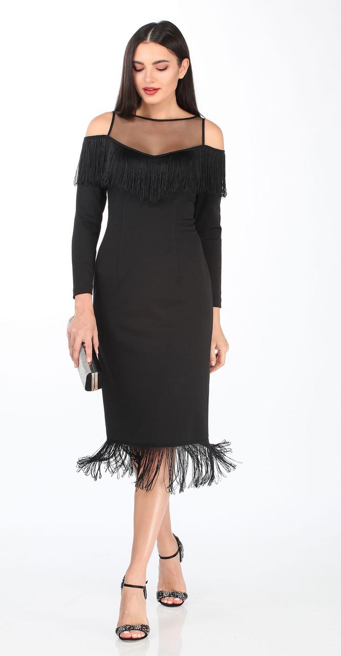 Платье DOGGI-3616, черный, 44