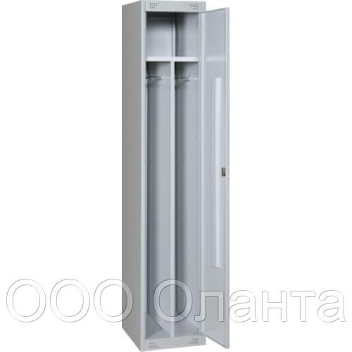 Шкаф для одежды односекционный с перегородкой (400х490х1850) арт. ШМ21/400