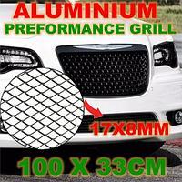 Алюминиевая решетка для тюнинга, 100x33 см