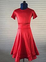 Платье из сатин вельвета