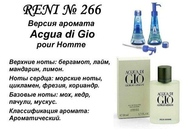 Версия аромата ARMANI ACQUA DI GIO POUR HOMME