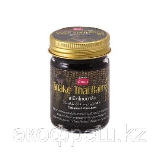 Змеиный черный бальзам Snake Thai balm Banna, 50 гр