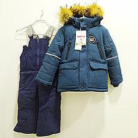"""Комбинезон зимний """"Ohccmith"""" со светоотражателем для мальчиков от 2 до 7 лет, бирюзовый., фото 1"""