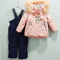 """Комбинезон с курткой """"Ohccmith"""", для девочек 1 до 8 лет, розовая., фото 1"""
