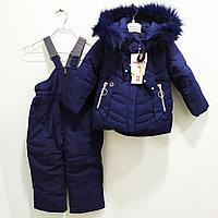 """Комбинезон с курткой """"Ohccmith"""", для девочек 1до 8 лет, синий."""